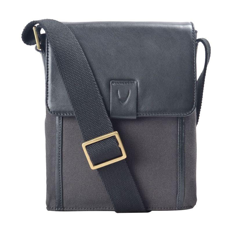 ハイデザイン メンズ ショルダーバッグ バッグ Aiden Small Canvas & Leather Crossbody Bracken Black