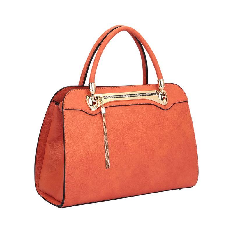 ダセイン メンズ ハンドバッグ バッグ Fashion Gold Tone Satchel Orange