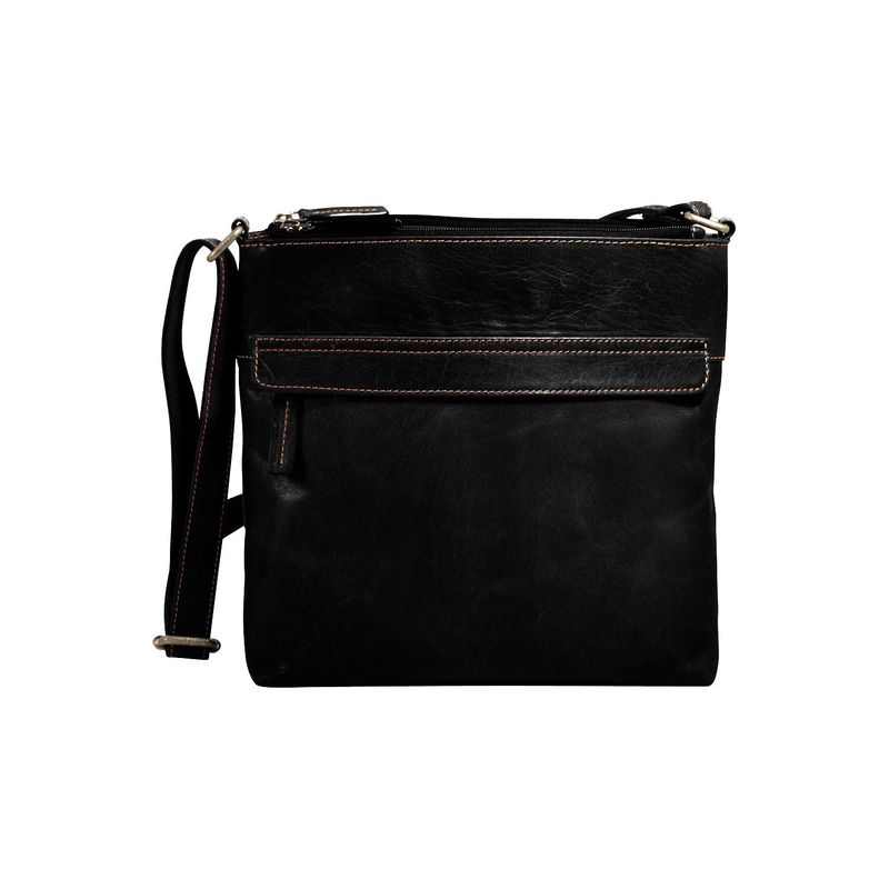 ジャックジョージス メンズ ハンドバッグ バッグ Voyager Zip Top Hobo Bag Black