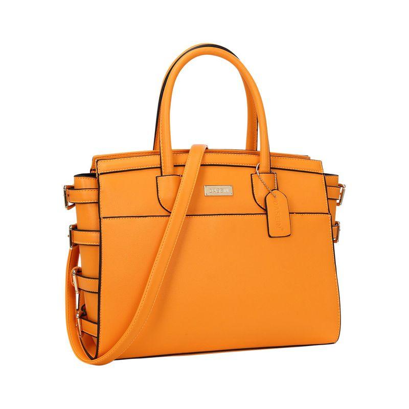 ダセイン メンズ ハンドバッグ バッグ Side Buckle Top Handle Satchel Orange