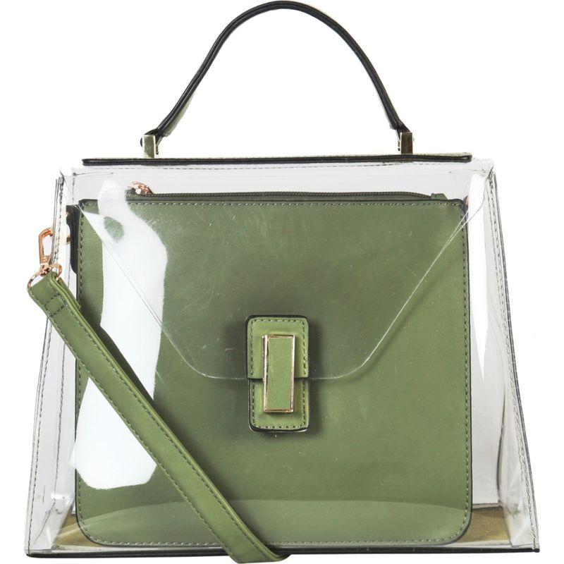 ディオフィ メンズ ハンドバッグ バッグ Large Fashion Clear Satchel Green