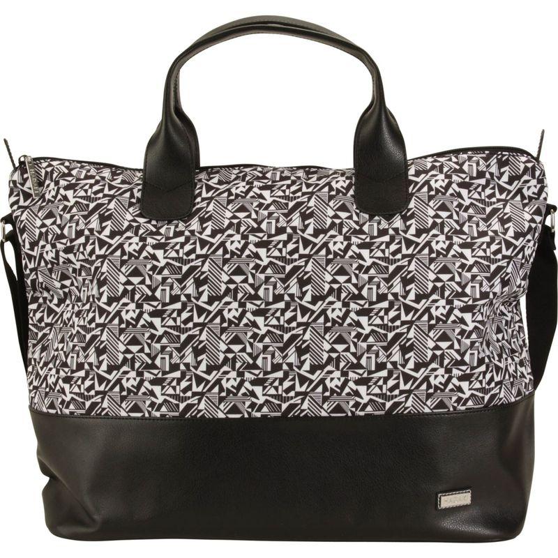 ハダキ メンズ スーツケース バッグ Hamptons Tote Black & White