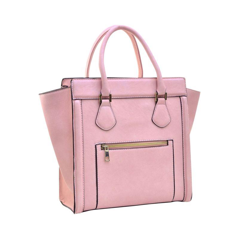 ダセイン メンズ ハンドバッグ バッグ Medium Winged Satchel Pink