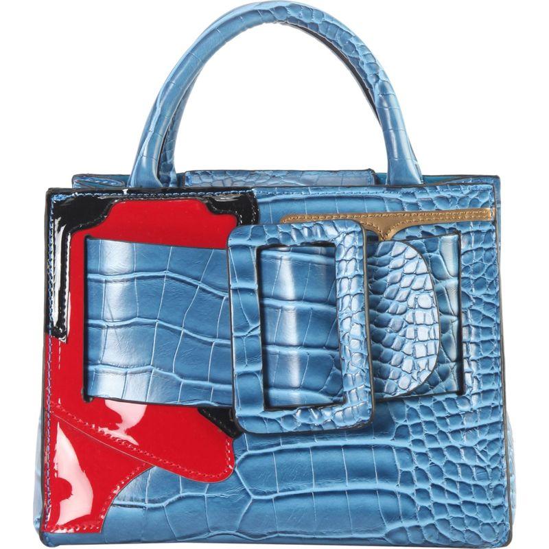 ディオフィ メンズ トートバッグ バッグ Buckle Decor Animal Print Pattern Tote Royal Blue