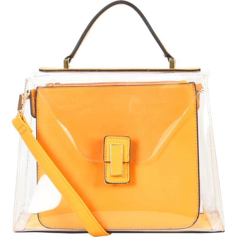 ディオフィ メンズ ハンドバッグ バッグ Large Fashion Clear Satchel Yellow