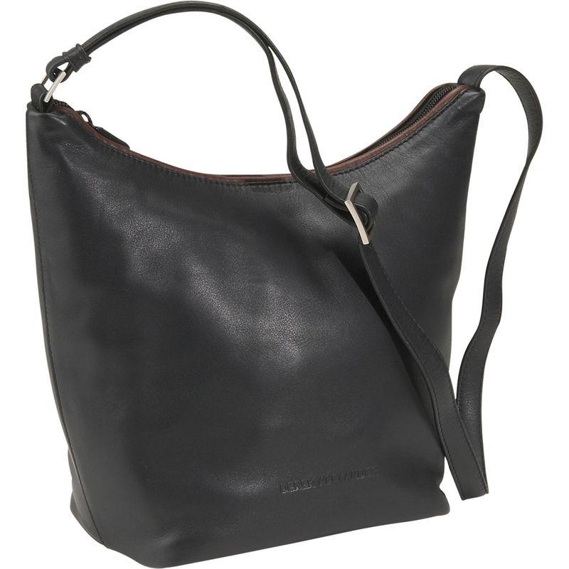 デレクアレクサンダー メンズ ハンドバッグ バッグ Top Zip Bucket Bag Black/Brandy