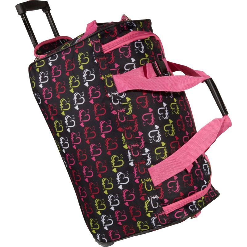 ロックランド メンズ スーツケース バッグ 22 Rolling Duffle Bag Multi Color Hearts