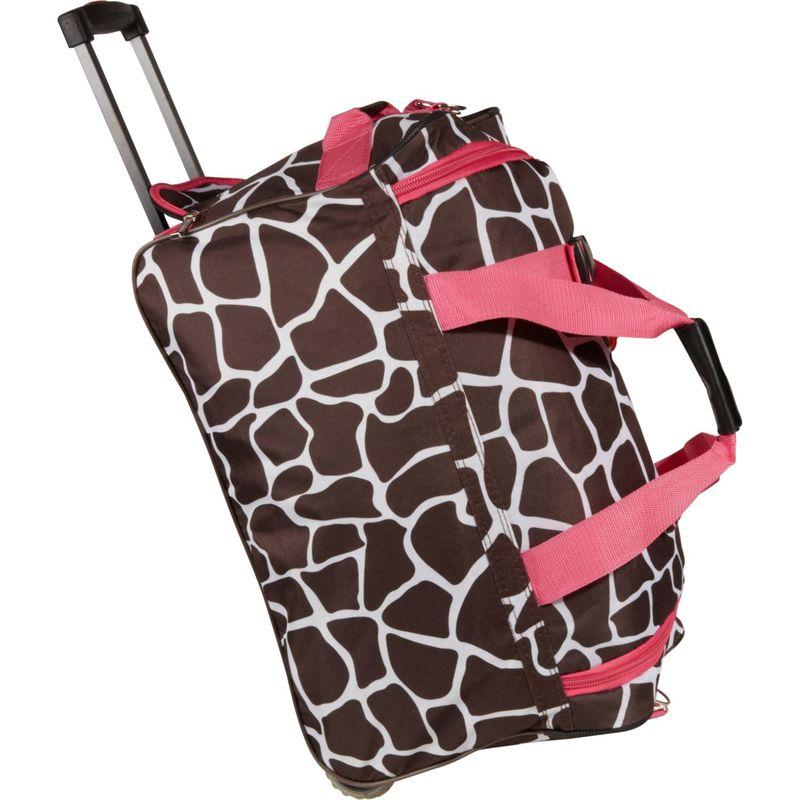 ロックランド メンズ スーツケース バッグ 22 Rolling Duffle Bag Pink Giraffe