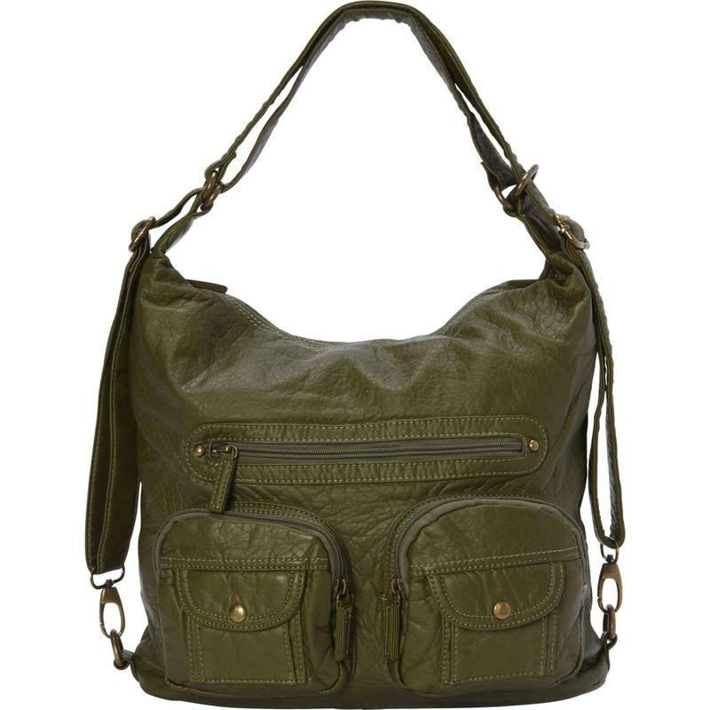 アンペレクリアーション メンズ ボディバッグ・ウエストポーチ バッグ Convertible Backpack Crossbody Purse Army Green