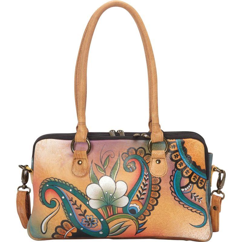 アンナバイアナシュカ メンズ ハンドバッグ バッグ Large Multi Compartment Satchel Floral Paisley
