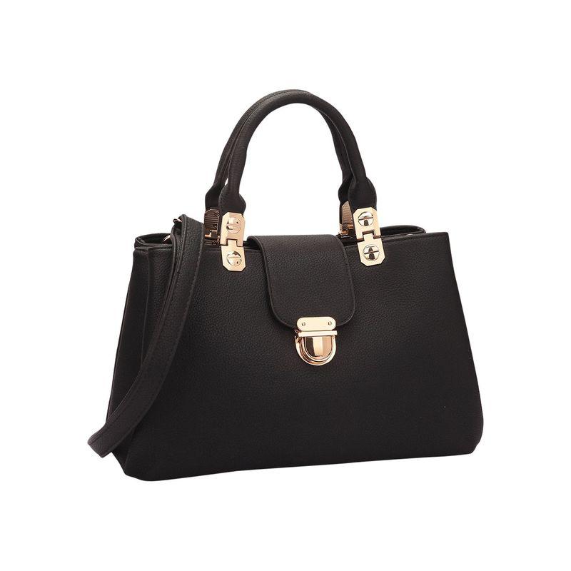 ダセイン メンズ ハンドバッグ バッグ Fashion Double Pocket Satchel Black