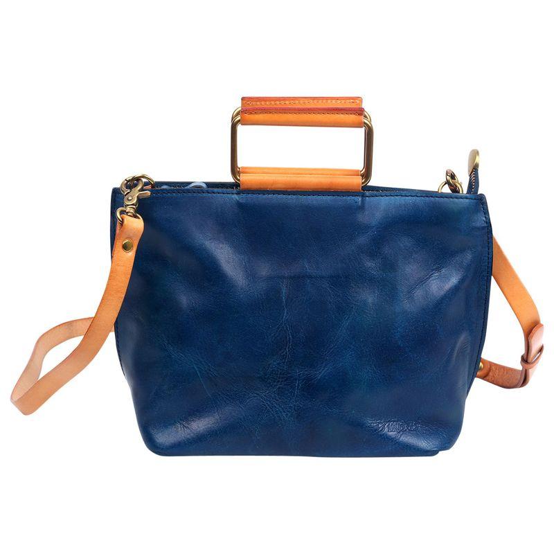 オールドトレンド メンズ ボディバッグ・ウエストポーチ バッグ Pome Leather Crossbody & Tote Vintage Blue