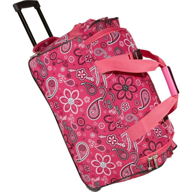 ロックランド メンズ スーツケース バッグ 22 Rolling Duffle Bag Pink Bandana