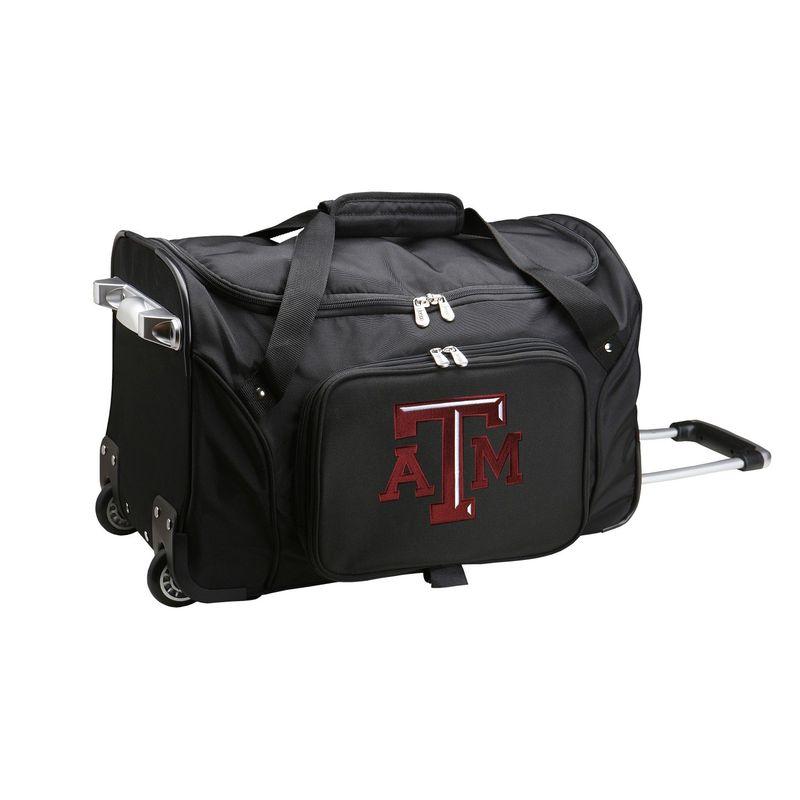 デンコスポーツ メンズ スーツケース バッグ NCAA 22 Rolling Duffel Texas A&M University Aggies