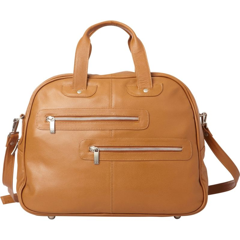 ピエール メンズ ハンドバッグ バッグ Double Zip-Pocket Leather Satchel Saddle