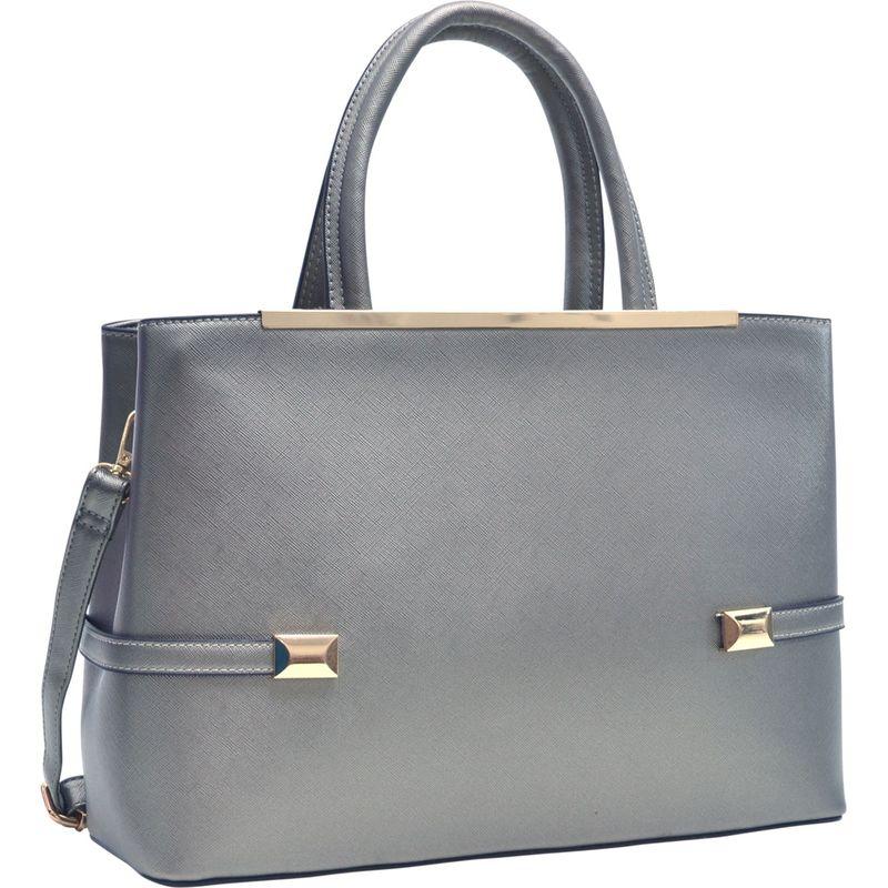 ダセイン メンズ ハンドバッグ バッグ Framed Satchel Bag with Shoulder Strap Pewter