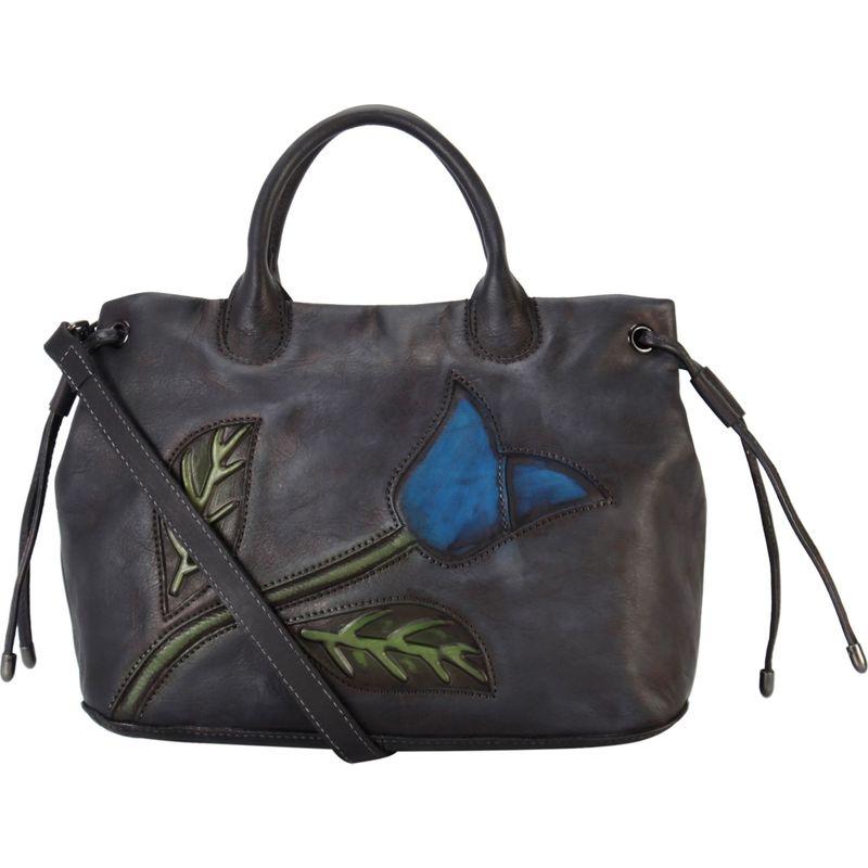 ディオフィ メンズ ハンドバッグ バッグ Drawstring Cameo Tulip Large Shoulder Bag Black