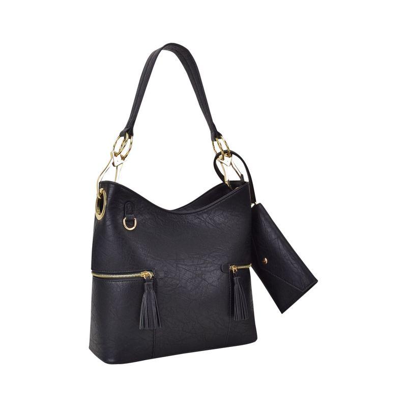 ダセイン メンズ ハンドバッグ バッグ Classic Hobo Bag with Matching Wristlet Black