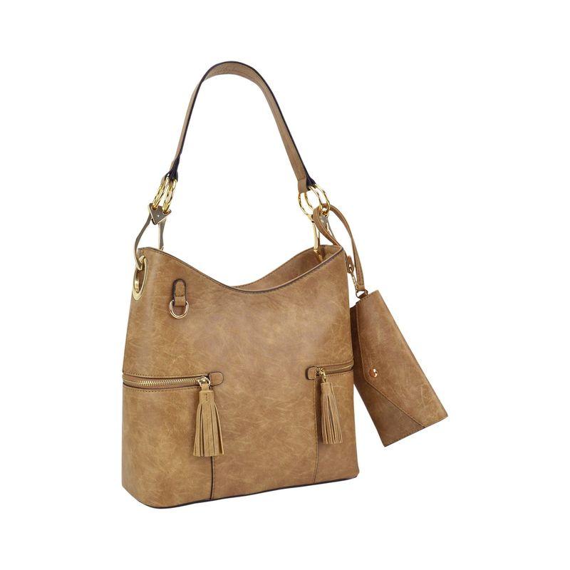 ダセイン メンズ ハンドバッグ バッグ Classic Hobo Bag with Matching Wristlet Khaki