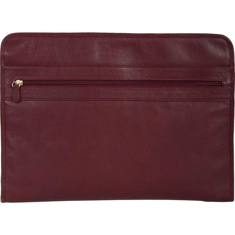 スカーリー メンズ スーツケース バッグ Calf Leather 3 Way Zip Envelope File Business Case Red