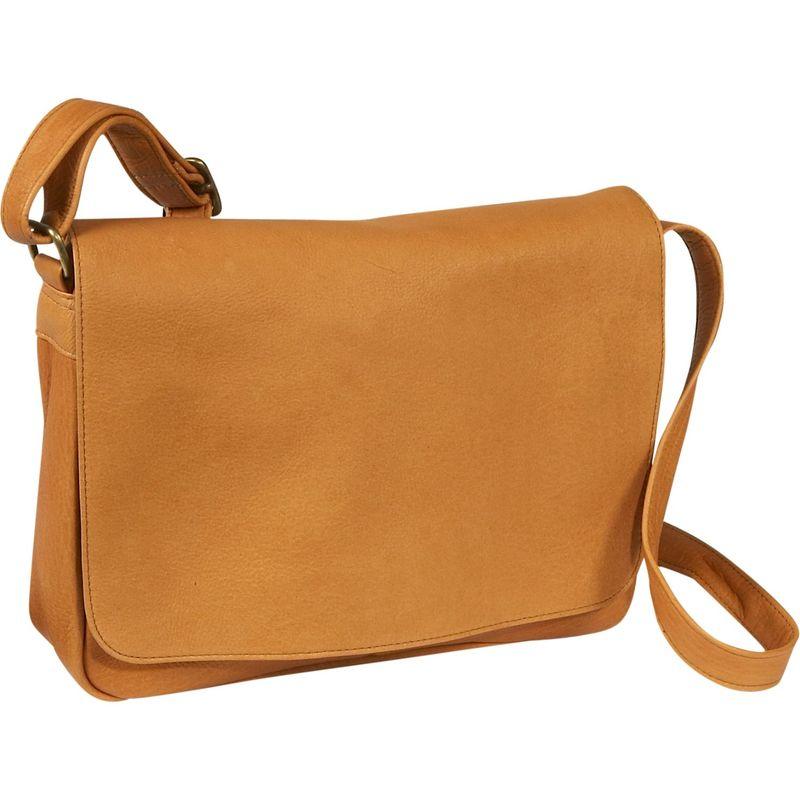 ルドネレザー メンズ ショルダーバッグ バッグ Flap Over Shoulder Bag Tan