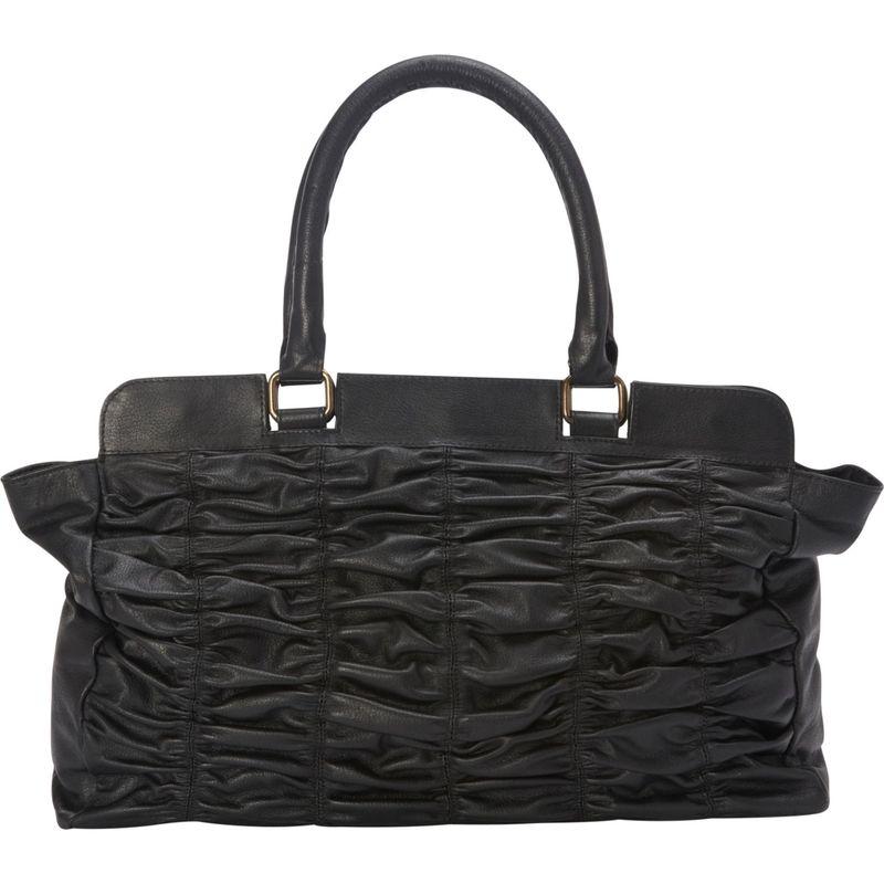シャロレザーバッグス メンズ ハンドバッグ バッグ Black Leather Quilted Handbag Black