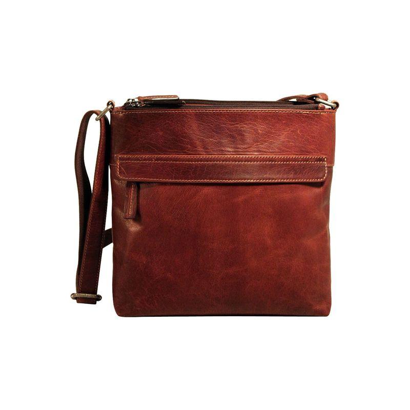 ジャックジョージス メンズ ハンドバッグ バッグ Voyager Zip Top Hobo Bag Brown