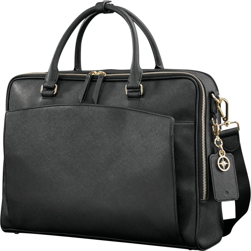 サムソナイト メンズ スーツケース バッグ Ladies Leather Zip Brief Black
