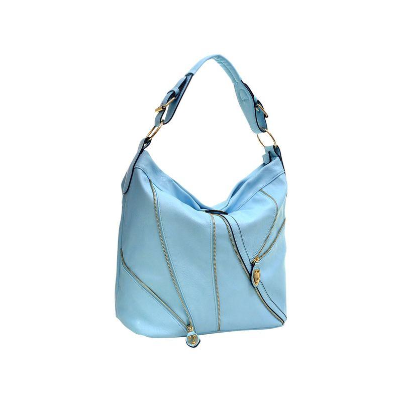 ダセイン メンズ ハンドバッグ バッグ Zipper Front Hobo Blue