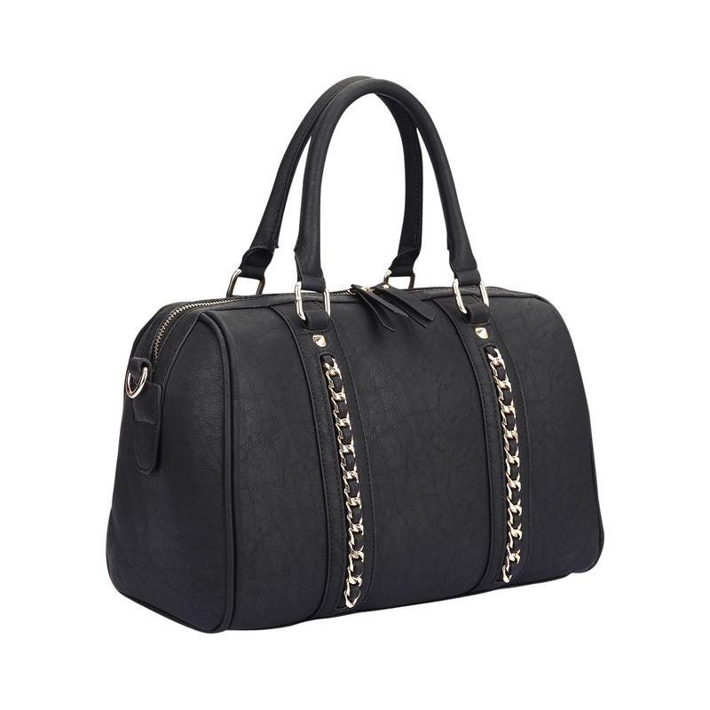 ダセイン メンズ ハンドバッグ バッグ Faux Leather Medium Satchel Shoulder Bag Black