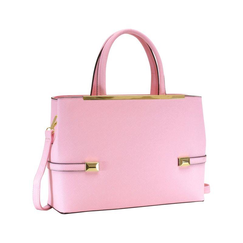 ダセイン メンズ ハンドバッグ バッグ Framed Satchel Bag with Shoulder Strap Pink