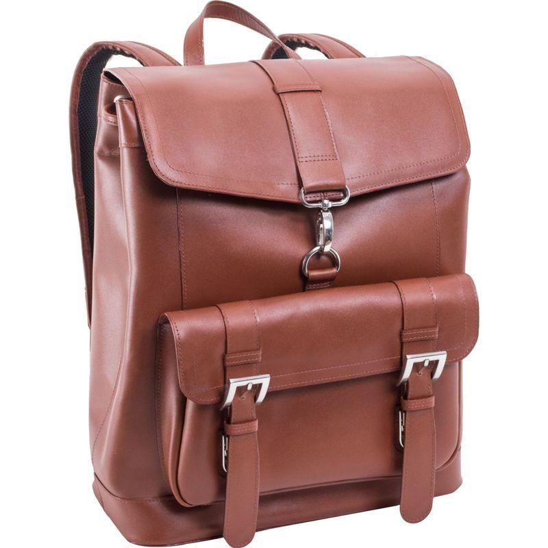 マックレイン メンズ スーツケース バッグ Hagen Leather Laptop Backpack Brown