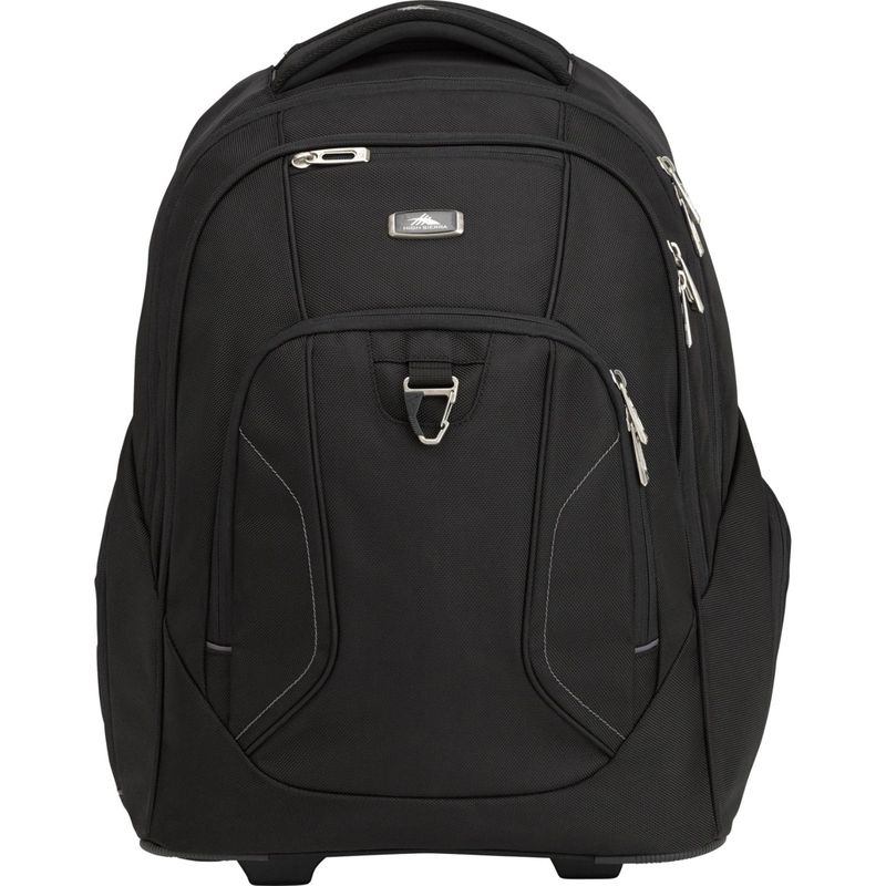 ハイシエラ メンズ スーツケース バッグ Endeavor Wheeled Laptop Backpack Black