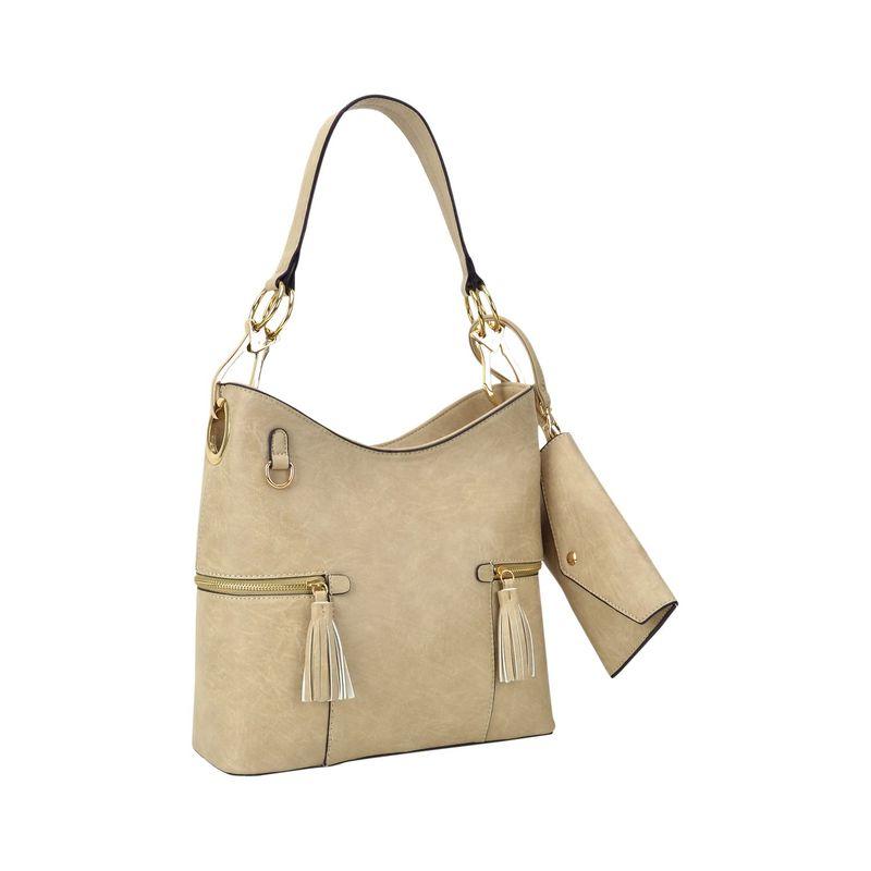 ダセイン メンズ ハンドバッグ バッグ Classic Hobo Bag with Matching Wristlet Beige