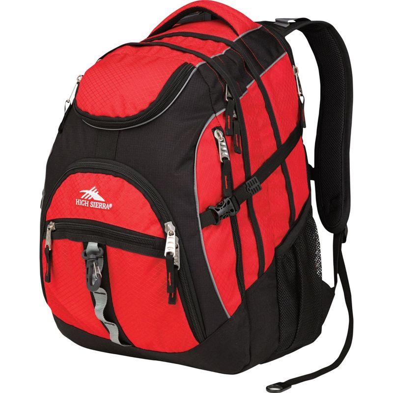 ハイシエラ メンズ バックパック・リュックサック バッグ Access Laptop Backpack - 17 Crimson/Black