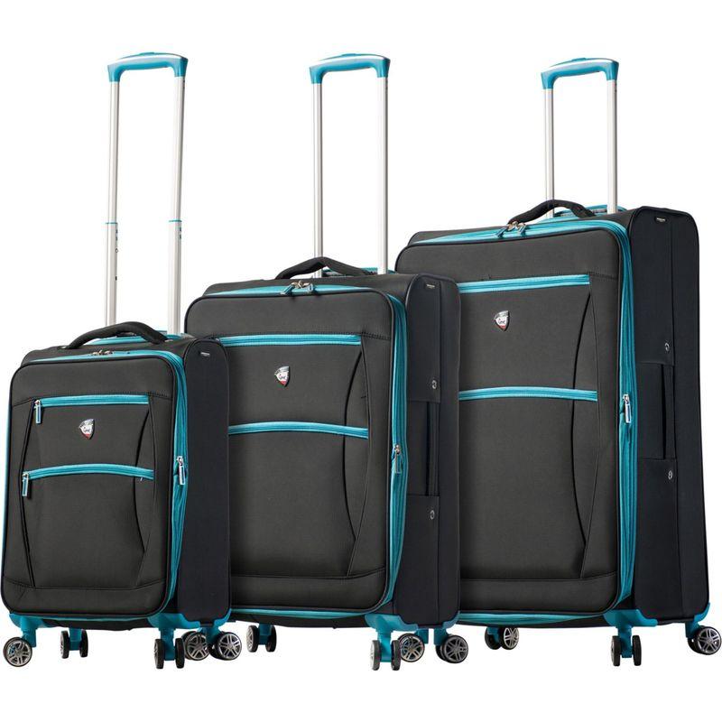 ミアトロ メンズ スーツケース バッグ Piuma Softside 3 Piece Spinner Set Blue