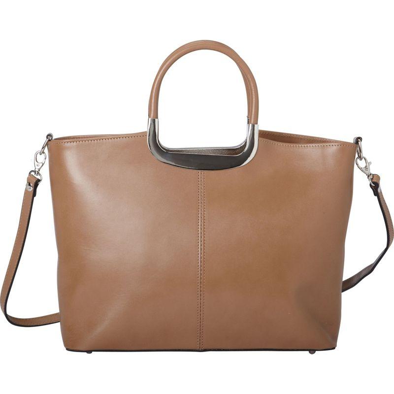 シャロレザーバッグス メンズ ハンドバッグ バッグ Everyday Italian Leather Handbag and Shoulder Bag Taupe