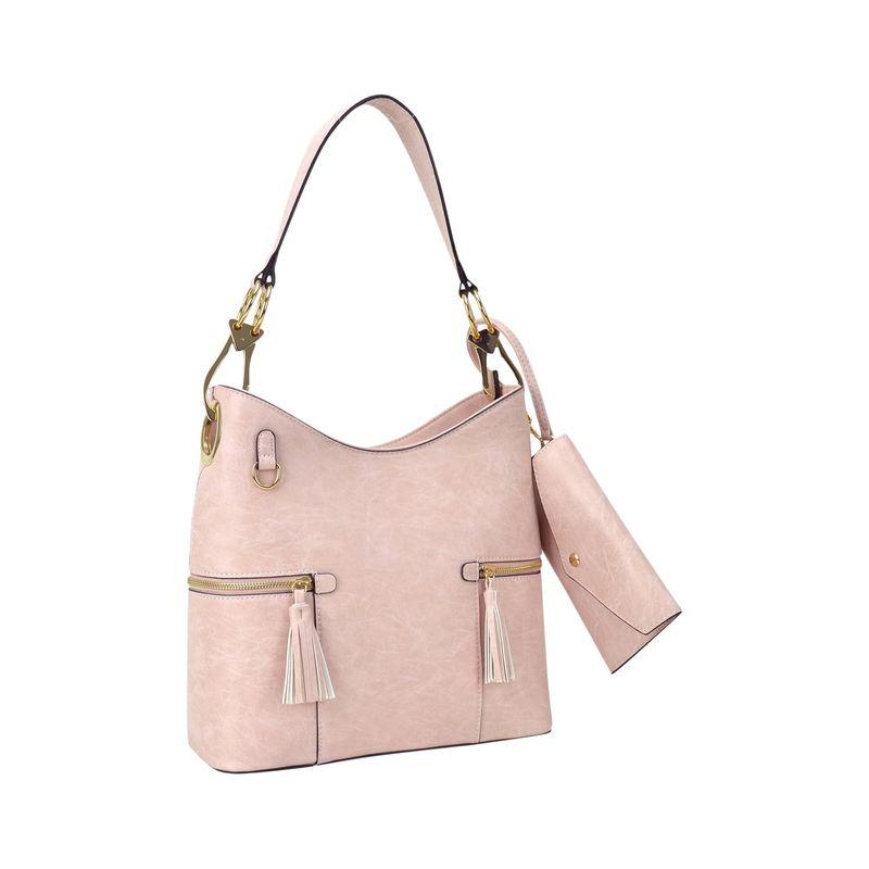 ダセイン メンズ ハンドバッグ バッグ Classic Hobo Bag with Matching Wristlet Pink