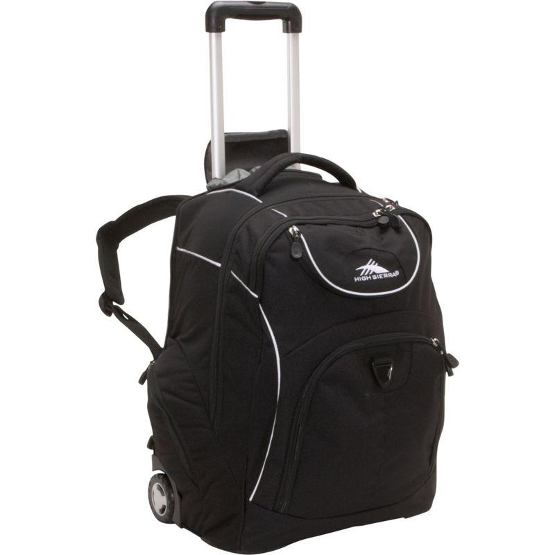 ハイシエラ メンズ バックパック・リュックサック バッグ Powerglide Rolling Laptop Backpack Black