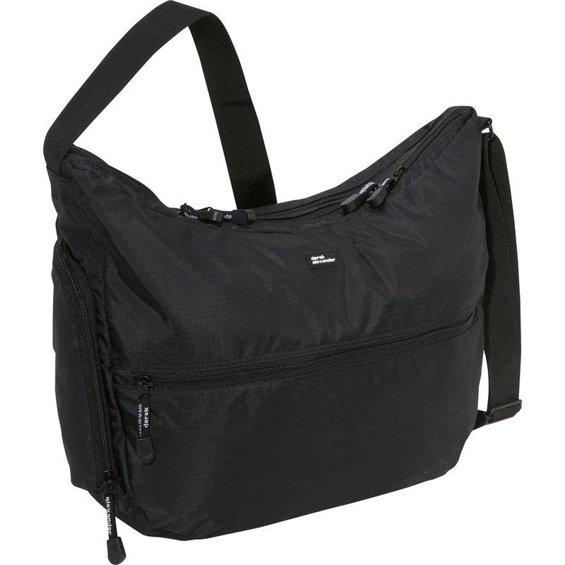 デレクアレクサンダー メンズ ハンドバッグ バッグ Large Top Zip Hobo Black
