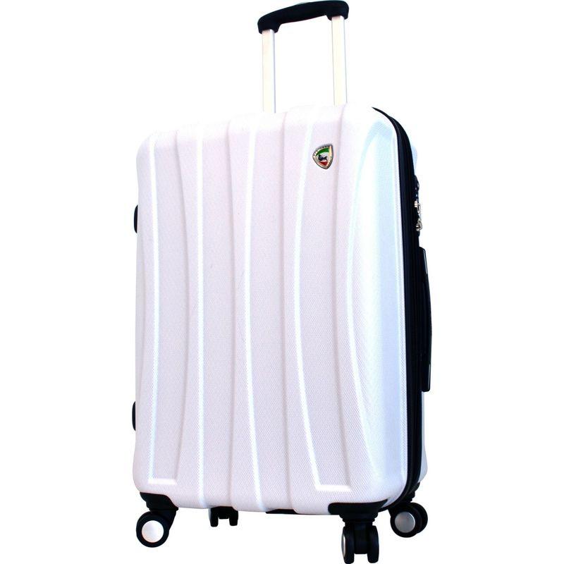 """ミアトロ メンズ スーツケース バッグ Tasca Fusion Hardside 24"""" Spinner White"""