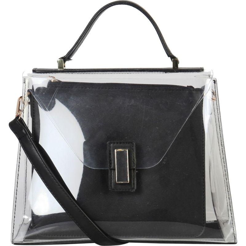 ディオフィ メンズ ハンドバッグ バッグ Large Fashion Clear Satchel Black