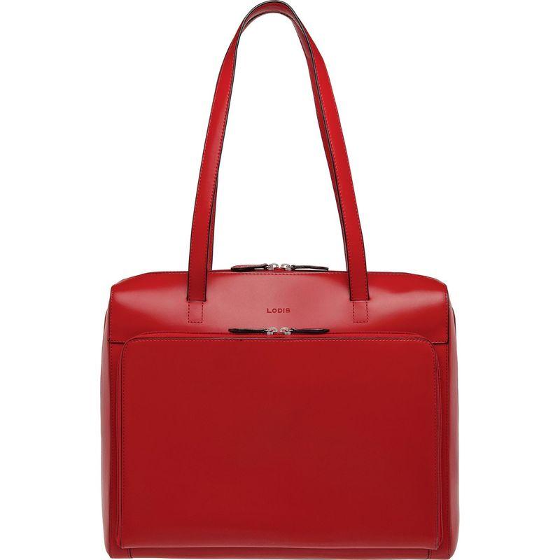 ロディス メンズ スーツケース バッグ Audrey RFID Zip Top Laptop Tote New Red