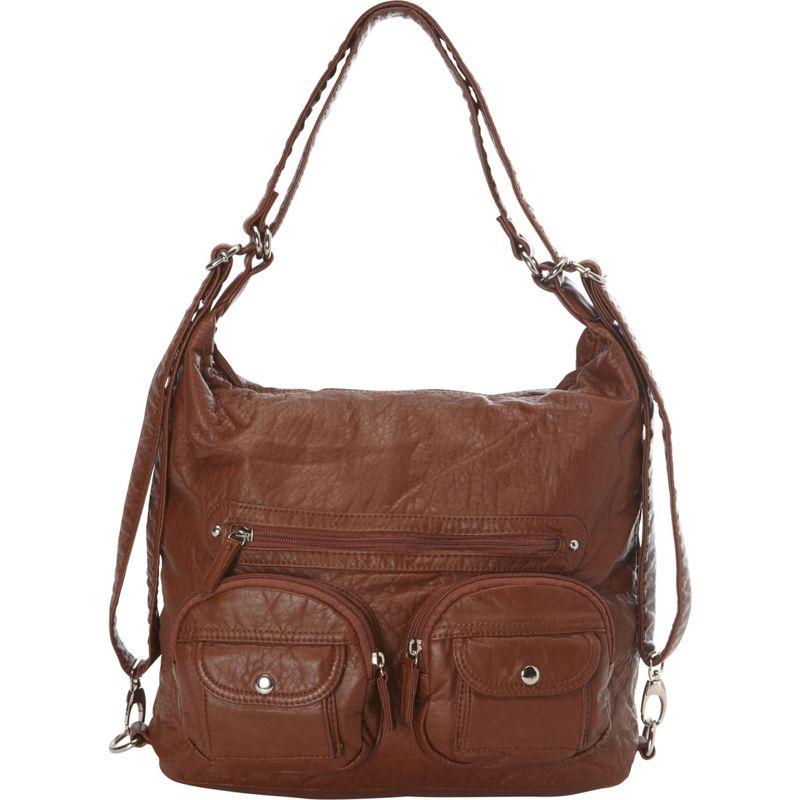 アンペレクリアーション メンズ ボディバッグ・ウエストポーチ バッグ Convertible Backpack Crossbody Purse Brown