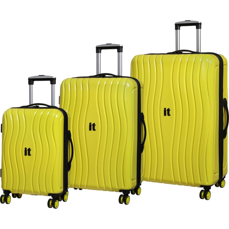 アイティー メンズ スーツケース バッグ Doppler Hardside 8 Wheel 3 Piece Set - eBags Exclusive Yellow