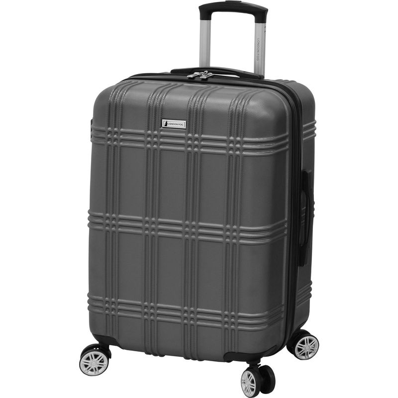 ロンドンフォグ メンズ スーツケース バッグ Kingsbury 25 Expandable Hardside Spinner Titanium