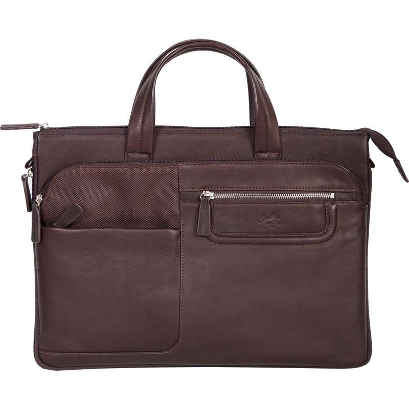 スカーリー メンズ スーツケース バッグ Oakridge Workbag Chocolate