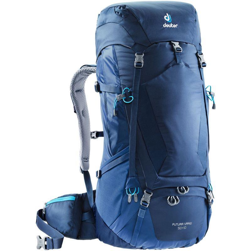 ドイター メンズ バックパック・リュックサック バッグ Futura Vario 50 + 10 Hiking Pack Midnight/Steel