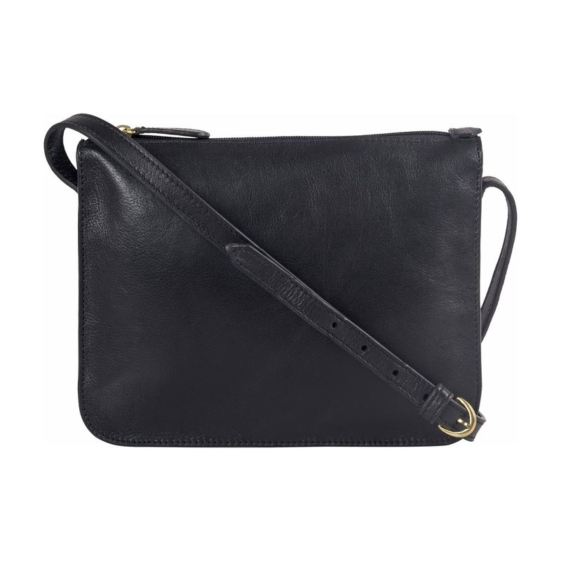 ハイデザイン メンズ ショルダーバッグ バッグ Carmel Medium Sling Bag Black