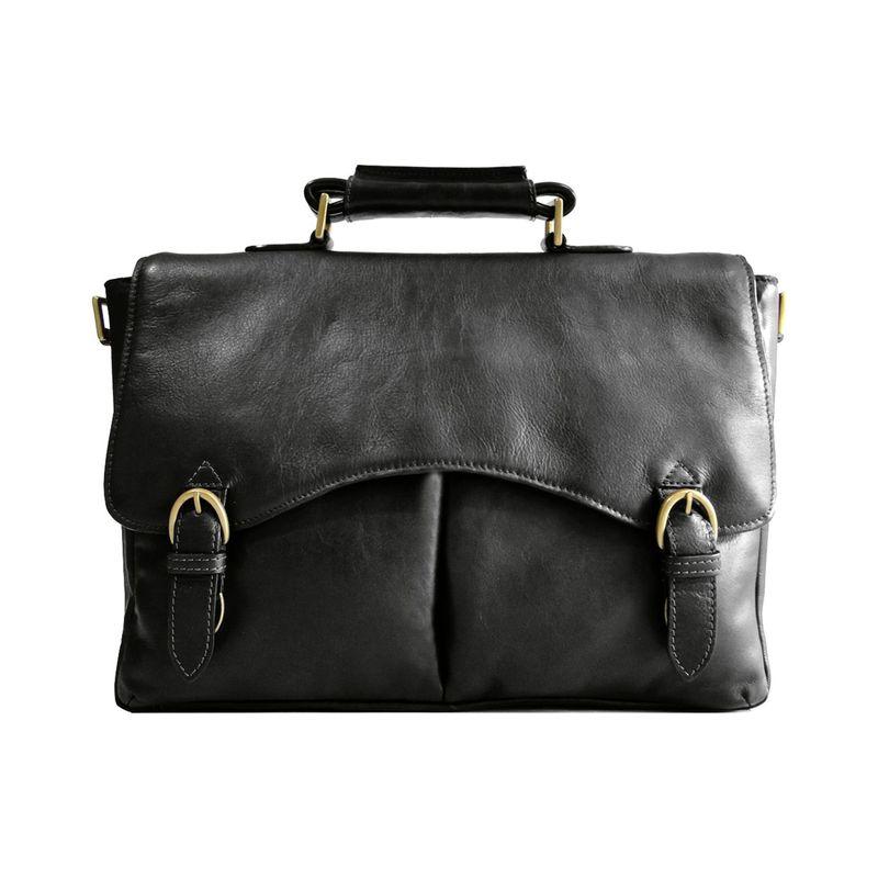 ハイデザイン メンズ スーツケース バッグ Hawkins 15 Laptop Compatible Briefcase Work Bag Black